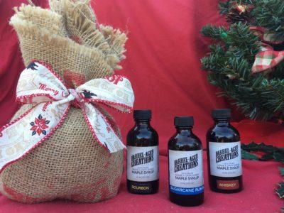 barrel aged maple syrup tasting gift set, bourbon barrel aged maple syrup, whiskey barrel aged maple syrup, rum barrel aged maple syrup, bourbon maple, bourbon syrup, whiskey syrup, rum syrup, gourmet syrup, whiskey maple, maple whiskey, maple rum, rum maple
