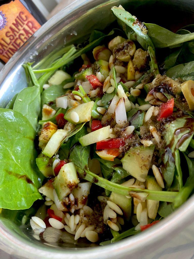 italian orzo salad, recipe, barrel aged creations