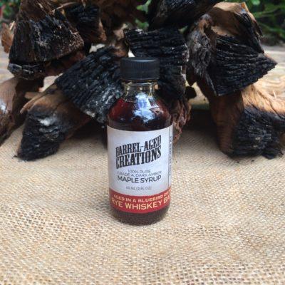 tasting flight, rye whiskey barrel aged maple syrup, 60ml tasting bottle, sampler, sample, taster,